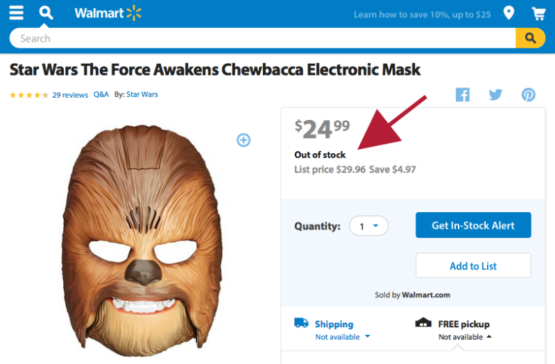 Loja Virtual Wallmart Out of Stock Chewbacca Marketing Viral