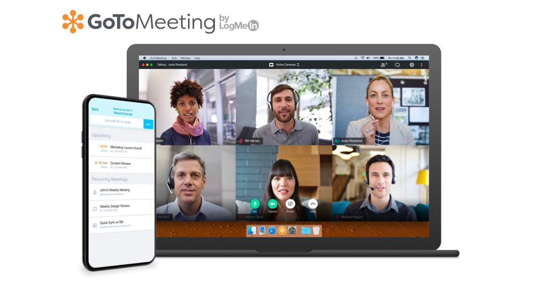 Audio e Vídeo Cinferência GotoMeeting by Logmein