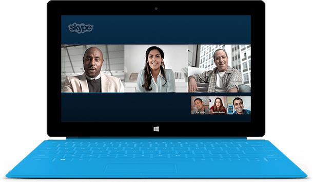 Ligacões e Video conferência com Skype